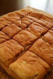 簡単!薄力粉でふわふわバナナケーキの写真
