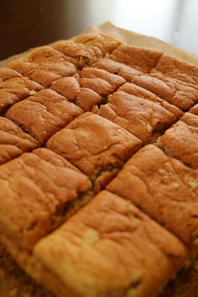 簡単!薄力粉でふわふわバナナケーキ