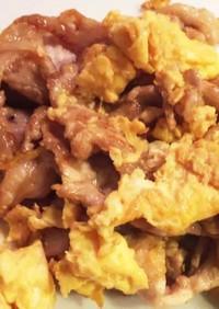 豚肉と卵の甘酢炒め
