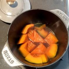 ストウブ鍋でホクホクかぼちゃの煮物♪