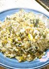 ごま油香る◎辛子高菜と和布と削り節の炒飯