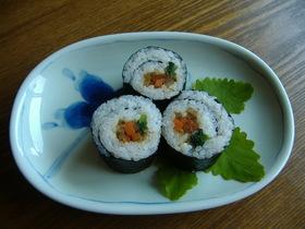 春の新野菜を使ったちょっと珍しい巻き寿司