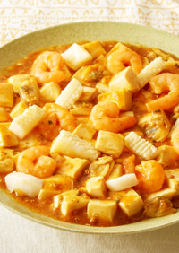 シーフードミックスで作る!海鮮麻婆豆腐