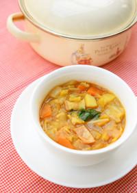 朝食におすすめ!具だくさんカレースープ