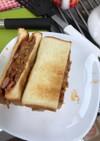 もやしのピリ辛サンドイッチ