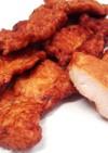 平切り鶏ムネ肉のから揚げ