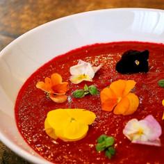 ビーツのお花畑スープ