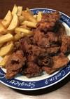 ダッチオーブンで鳥もも肉のフライドチキン