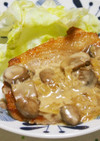 マッシュルームソースで美味!豚肉ステーキ