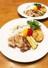 フライパン一つで豪華♡塩麹鶏&野菜焼き