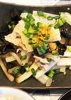 塩もみ大根と豚肉の炒め物