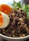 台湾風豚ひき肉と椎茸のそぼろご飯