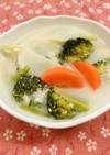 春野菜のミルクスープ