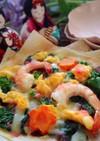 ひな祭りに!菜の花入り春ピザ