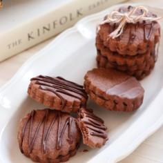 サクサクッ*チョコサンドクッキー