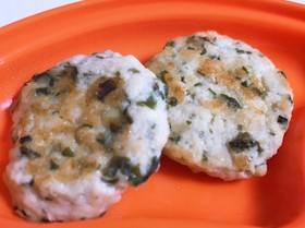 離乳食中期〜豆腐と鳥ミンチのハンバーグ♪