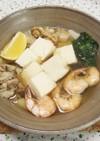 【一人鍋】海老と帆立の海鮮塩鍋