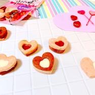 卵乳不使用!いちごとチョコの米粉クッキー