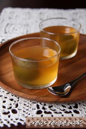 梅酒とレモンのほろ酔いゼリー