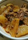 大根とサバ味噌缶の煮物*キムチ風味