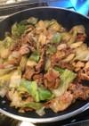 簡単☆すき焼きのタレで肉野菜炒め♡