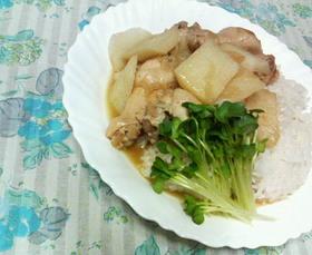 ✿手羽元と長芋の❀コンソメスープがけ✿飯