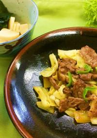牛肉のレモン塩炒め(腎臓病食)