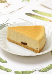 大人のラムレーズンチーズケーキ