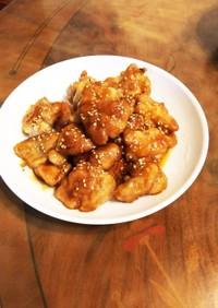 鶏もも肉の名古屋手羽先風