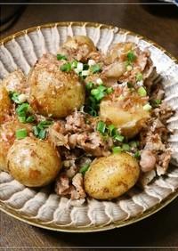 こく旨✿豚肉と新じゃが芋のおかか煮