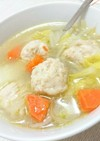 簡単!鶏団子の中華スープ