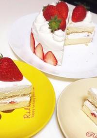 市販スポンジでデコレーションケーキ
