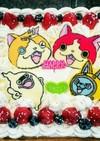 バニラスポンジのデコレーションケーキ