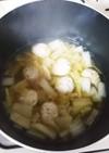 白菜とつくねの簡単しょうがスープ♪