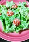 グリーンリーフとミニトマトのゴマサラダ
