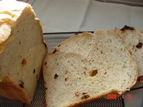 HB♪中力粉でふんわりレーズン食パン