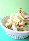 うどと白菜の塩麹ドレッシングサラダ