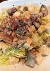 簡単☆サバ缶とキャベツと豆腐のサラダ