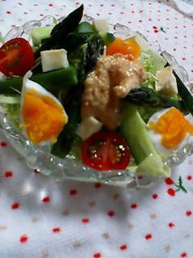 春キャベツと卵の春色サラダ♥