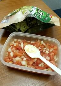 玉ねぎのサルサ:トルティーヤチップス添え