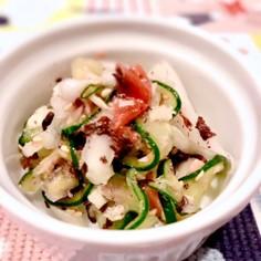 キュウリと白菜のサッパリ梅中華和え