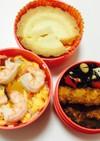 112、ミニ散らし寿司とヒレカツ弁当♡