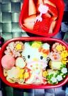 キティちゃん 雛祭り 弁当 キャラ弁