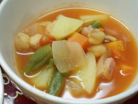 ひよこ豆のトマト煮込みスープ