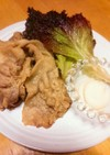 幸せ運ぶ高カロリー♡豚肉のレタス包み