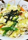 豆腐の玉子丼風