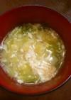 キャベツのふわふわ卵スープ