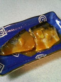 レンジで簡単~サバの味噌煮♪