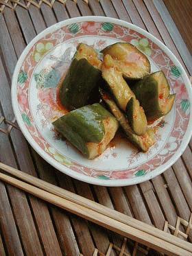 きゅうりの中華風漬け物