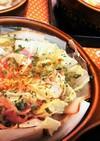 白菜とベーコンのミルフィーユスープ仕立て
